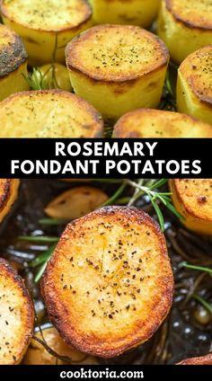 Fondant Potatoes, Great Recipes, Vegan Recipes, Food 101, Food Videos, Side Dishes, Veggies, Appetizers, Share Photos