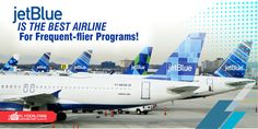 JETBLUE's #TrueBlue RANKS 1st AMONG FREQUENT-FLIER PROGRAMS!  #JetBlueAirways' #FrequentFlier program is the tops when it comes to customer satisfaction.