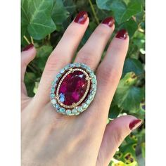 A delicious rubellite with a side of opals to get you through every day!  #wendyyue