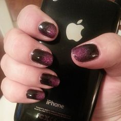 kendraallyse on Instagram did these dark, romantic nails with a deep purple ombre. Wed wear them in a minute. A hot minute.