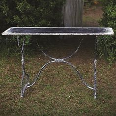 Funky vintage sofa table  available @ Re-Feather Your Nest LaConner
