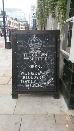 WIth a lovely garden to sit outside in, we love heading to the Crown and Shuttle in Shoreditch.