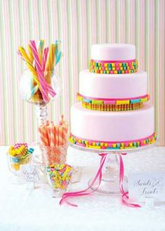 Wedding Theme Candy Shop Cakes | Pacific Weddings