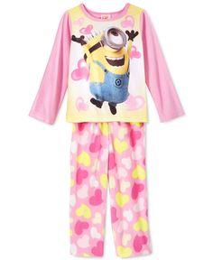 Despicable Me Toddler Girls' 2-Piece Minion Hearts Pajamas