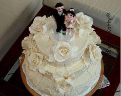 La buona cucina di Katty: Wedding cake - Torta di matrimonio tutta per Sandro e Rejane