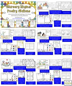 Nursery Rhyme Poetry Stations 5 nursery rhymes for Pre K to K classroom. Each poem includes 2 sorting activities and an emergent reader!
