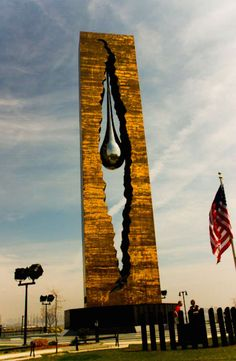 to the struggle against world terrorism teardrop memorial 9/11 bayonne new jersey