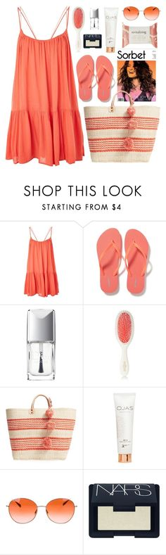 """sunset sky"" by mj-3 ❤ liked on Polyvore featuring Topshop, Old Navy, Christian Dior, Mason Pearson, Mar y Sol, OJAS, Oliver Peoples, NARS Cosmetics and Forever 21"