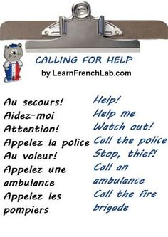 Study French Survival Phrases with Audio earlier than going to France. French Verbs, French Grammar, French Phrases, English Grammar, French Language Lessons, French Language Learning, French Lessons, German Language, Spanish Lessons