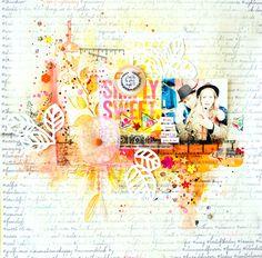 #papercraft #scrapbook #layout.  Gwenaelle Scharlipp - c'est le plus rigolo