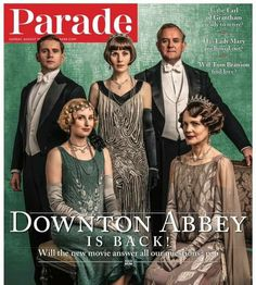 parademagazine In a few weeks time, we'll FINALLY be reunited with the Crawley family in the English countryside when the movie hits the big screen! Movies 2019, New Movies, Downton Abbey Movie, Matthew Crawley, Hugh Bonneville, Laura Carmichael, Elizabeth Mcgovern, Julian Fellowes, Dowager Countess