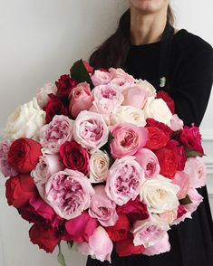 David Austin + O'Hara roses David Austin Roses, Garden Roses, Amazing Flowers, Different Colors, Raspberry, Floral Wreath, Bouquet, Pink, How To Make