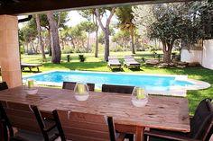 Wunderschönes und mediterranes Golf-Chalet in Santa Ponsa mit drei Schlafzimmer und Garten, direkt am Golf-Green für € 2.400.- zur LANGZEITMIETE.