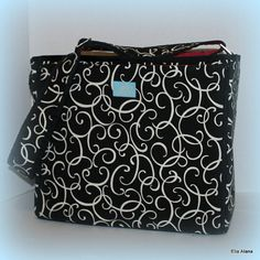 Items Similar To Black Loopy With Hot Pink Zipper Tote Ella Diaper Bag On Etsy