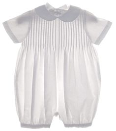 Baptism outfit? NEW Sophie Dess White Pintucked Romper $60.00