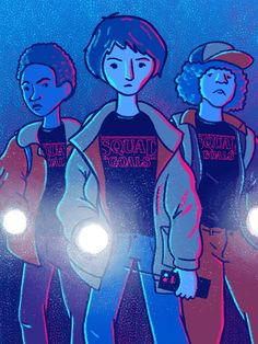"""""""A friend is someone that you'd do anything for. You lend them your cool stuff, like comic books and trading cards. And they never break a promise."""" Stranger Things art by Katie Chandler"""