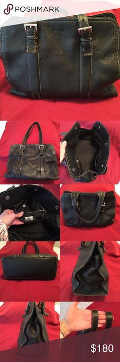 Spotted while shopping on Poshmark  Prada Black pebble leather satchel! eec6bfc6700b4