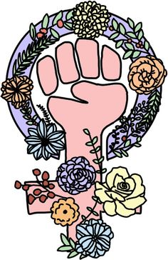 'feminist flower symbol' Sticker by andilynnf Feminist Tattoo, Feminist Quotes, Feminist Art, Feminist Symbols, What Is A Feminist, Quotes Thoughts, Life Quotes Love, Flower Symbol, Power Girl