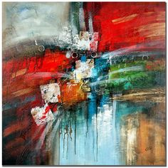 """Trademark Fine Art """"Cube Abstract IV"""" by Rio Painting Print on Canvas"""
