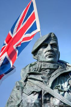 British Royal Marine, statue outside RM Museum in Eastney.
