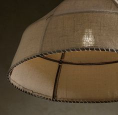 Burlap Dome Pendant Light