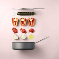 Deze food fotograaf legt recepten wel héél origineel vast