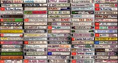 The Lost Art of Cassette Design. (All five rows) by Steve Vistaunet ©Steve Vistaunet. All Rights Reserved.