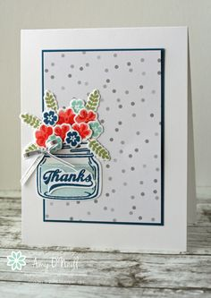 Stampin' Up! Jar of Love, Freshly Made Sketches: Freshly Made Sketches - A Sketch by Amy Card Making Inspiration, Making Ideas, Mason Jar Cards, Mason Jars, Love Jar, Stampin Up Catalog, Love Stamps, Get Well Cards, Creative Cards