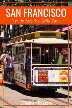 Learn more about San Francisco's unique cable car system and discover tips to ride them. SF is the only city in the world that runs their cable cars using the traditional method. California Destinations, Cruise Destinations, Visit California, California Travel, Vacations To Go, Vacation Trips, Travel Pictures, Travel Pics, Travel Ideas