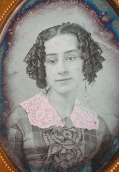 Ninth plate daguerreotype of a pretty young woman by Van Loan, NY. This image is not perfect, there is some heavy irregular tarnish, some minor spotting, and some light scratches near the border mostly at lower right. | eBay!