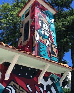 Street art @Agitagueda  #agitagueda #agitagueda2016 #agitaguedaartfestival #agueda #streetart #festival #urbanart #umbrellaskyproject