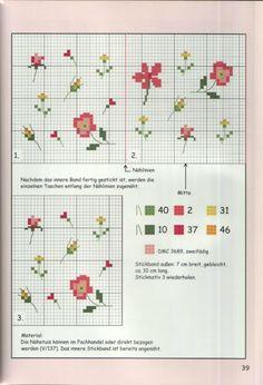 ru / A photo # 35 – Embroidery 30 -… - Tiny Cross Stitch, Cross Stitch Needles, Cross Stitch Borders, Cross Stitch Flowers, Cross Stitch Charts, Cross Stitch Designs, Cross Stitching, Cross Stitch Embroidery, Embroidery Patterns