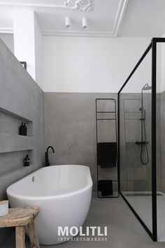 Van ontwerp tot realisatie: MOLITLI INTERIEURMAKERS #Badkamertrends #badkamer ideeën #badkamerontwerp #uniekebadkamer #exclusievebadkamer #badkamerindeling #badkameridee #badkamervloer #sanitair #badkameropmaat #badkamerwand #betoncire Www.molitli.nl Info@molitli.nl Bad Inspiration, Bathroom Inspiration, Bathroom Ideas, Interior Architecture, Interior Design, Home Reno, White Bathroom, Humble Abode, Amazing Bathrooms