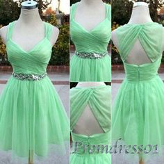 Mint chiffon short prom dress, strpas bridesmaid dress, cute sweetheart dress for teens, homecoming 2016, short party dress from #promdress01 #promdress http://www.promdress01.com/#!product/prd1/4274707185/mint-chiffon-short-prom-dress%2C-bridesmaid-dress