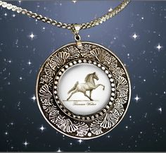 Tennessee Walking Horse Fancy Pendant by HorseLadyGifts on Etsy, $29.99