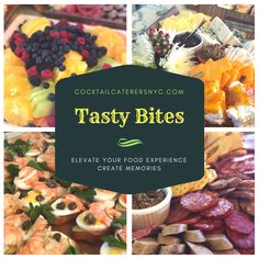 Cocktail Party, Holiday Celebrations, Weddings and Event Food Catering Services in NYC and the Tri-State Area for both Home and Corporate Events. Catering Ideas, Catering Services, Tasty Bites, Small Plates, Buffet, Cocktails, Nyc, Drink, Creative