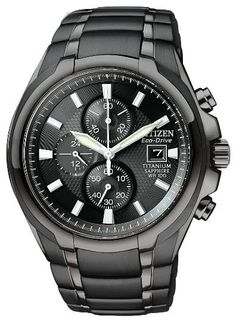 CITIZEN ECO-DRIVE MEN'S TITANIUM CHRONOGRAPH WATCH – CA0265-59E  MEN'S TITANIUM CHRONOGRAPH: Announce your arrival with style when you sport this titanium chronograph. Key details for this 1-second chronograph that measures up to 60 minutes include 12/24-hour time, date indicator, luminous hands and markers, and sapphire crystal. This rugged titanium model also features a 43mm screw-back case and fold over clasp with push button, and is 100M WR.