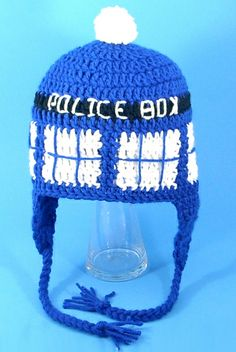 Tardis Earflap Hat for Fans of Doctor Who  I confess.  I ordered this yesterday!