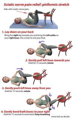 Fibromyalgia Pain Relief, Sciatica Pain Relief, Knee Pain Relief, Sciatic Pain, Muscle Pain Relief, Sciatica Massage, Yoga For Sciatica, Fitness Workouts, Yoga Fitness