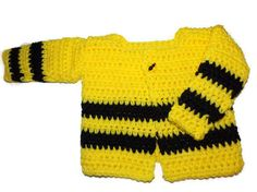 Newborn Yellow and Black Sweater with Bee by MrsSchafferCreations, $20.00