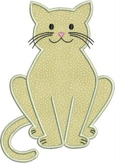 Kitty cat kitten machine embroidery applique designs