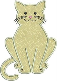 Kitty cat kitten machine embroidery applique designs