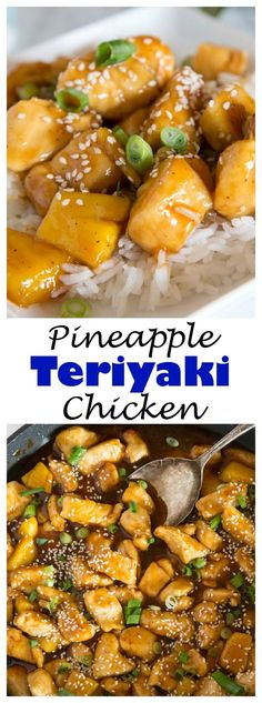 Pineapple Chicken Teriyaki – sweet and tangy homemade teriyaki sauce with tender chicken and pineapple. Serve over rice for a quick and easy dinner.