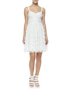 Confetti-Lace A-Line Dress, White by Amanda Uprichard at Neiman Marcus.