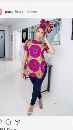 Super Stylish Ankara Tops for Gorgeous Ladies African Print Clothing, African Print Dresses, African Fashion Dresses, African Dress, Ankara Fashion, African Prints, African Fashion Designers, African Inspired Fashion, African Print Fashion