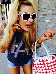 Athena Lee Kottak (ex-wives of Rock TV Series) wearing Pickbay in Los Angeles!  #athenakottak #pickbay