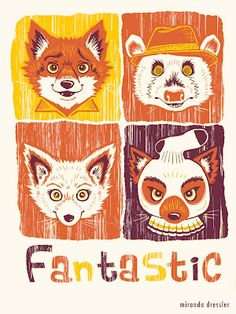 The Fantastic Mr. Fox illustrated by Miranda Dressler. Cannot wait to share this film alongside other Wes Anderson movies with my daughter. Fuchs Illustration, Fox Party, Fantastic Fox, Wes Anderson Movies, Mr Fox, Fanart, Fox Design, Cultura Pop, Stop Motion