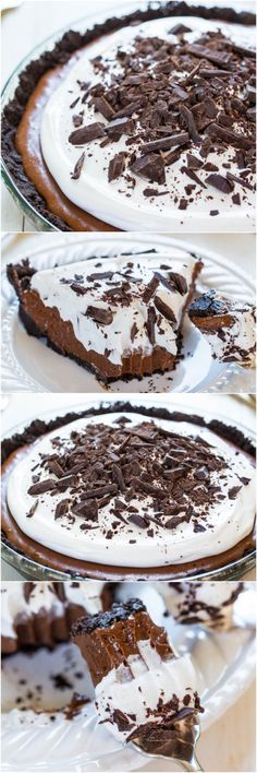 The Best French Silk Pie - Homemade French Silk is the most amazing thing ever! You HAVE to make this! Beyond words how crazy good it is!! Perfect for #MothersDay treat!