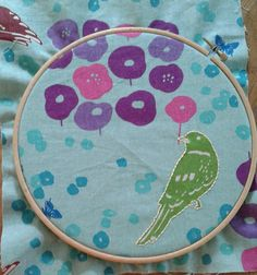 I use a hoop to make the fabric more easy to sow on so that my work is not crumbled up when I stitch on it.