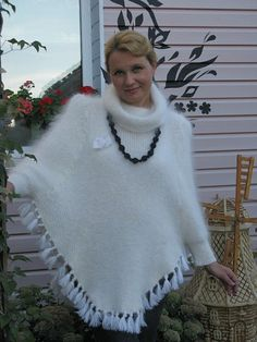 Check out Poncho of goat down. Downy poncho. Very soft and gentle poncho. Handmade poncho on downworkshop